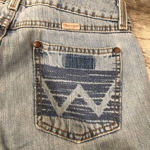 High rise, light wash Wrangler jeans
